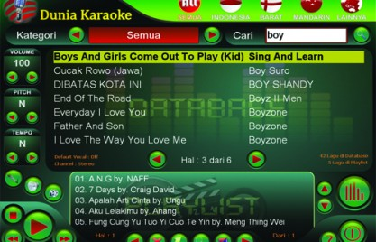 Software Karaoke - Program Komputer Player untuk Aplikasi
